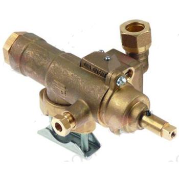 ROBINET GAZ STN3R ENTREE GAZ BRIDE TUBE ø 20 MM--