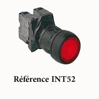 INTERRUPTEUR POUSSOIR AFFLEURANT LUMINEUX A IMPULSION (MOMENTANE) 230V