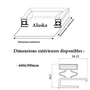 JOINT CADRE MAGNETIQUE ADAPTABLE ALASKA MODELE 2