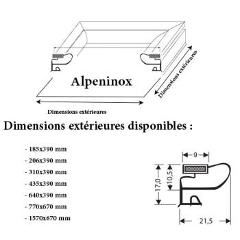 JOINT CADRE MAGNETIQUE ADAPTABLE ALPENINOX