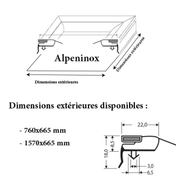 JOINT CADRE MAGNETIQUE ADAPTABLE ALPENINOX MODELE 2