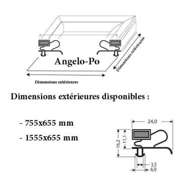 JOINT CADRE MAGNETIQUE ADAPTABLE ANGELO PO MODELE 2