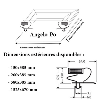 JOINT CADRE MAGNETIQUE ADAPTABLE ANGELO PO MODELE 3