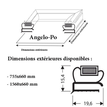 JOINT CADRE MAGNETIQUE ADAPTABLE ANGELO PO MODELE 4