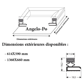 JOINT CADRE MAGNETIQUE ADAPTABLE ANGELO PO MODELE 6