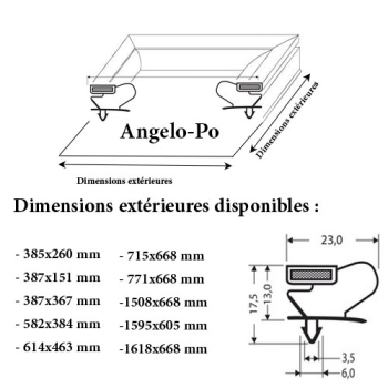 JOINT CADRE MAGNETIQUE ADAPTABLE ANGELO PO MODELE 7