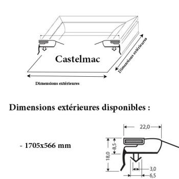 JOINT CADRE MAGNETIQUE ADAPTABLE CASTELMAC