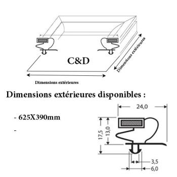 JOINT CADRE MAGNETIQUE ADAPTABLE C & D MODELE 2