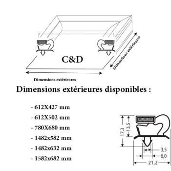 JOINT CADRE MAGNETIQUE ADAPTABLE C & D MODELE 3