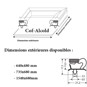 JOINT CADRE MAGNETIQUE ADAPTABLE COF-ALCOLD