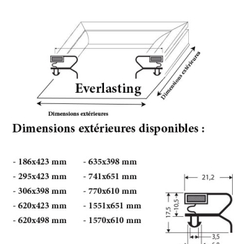 JOINT CADRE MAGNETIQUE ADAPTABLE EVERLASTING