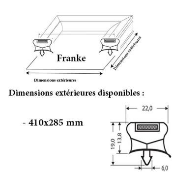 JOINT CADRE MAGNETIQUE ADAPTABLE FRANKE MODELE 2