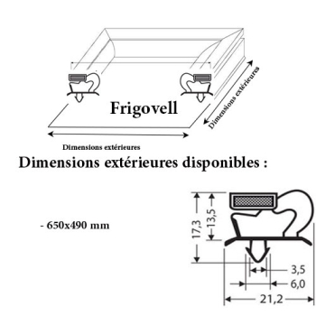 JOINT CADRE MAGNETIQUE ADAPTABLE FRIGOVELL MODELE 4