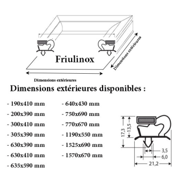 JOINT CADRE MAGNETIQUE ADAPTABLE FRIULINOX