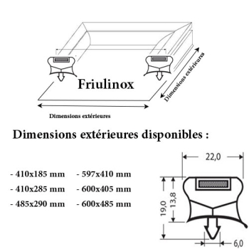 JOINT CADRE MAGNETIQUE ADAPTABLE FRIULINOX MODELE 2