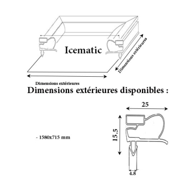 JOINT CADRE MAGNETIQUE ADAPTABLE ICEMATIC