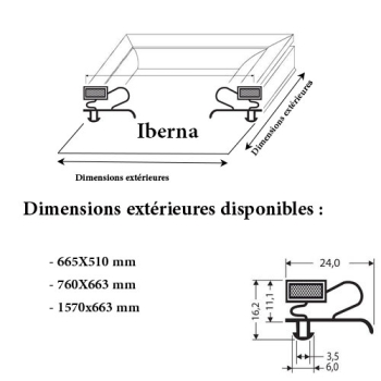 JOINT CADRE MAGNETIQUE ADAPTABLE IBERNA