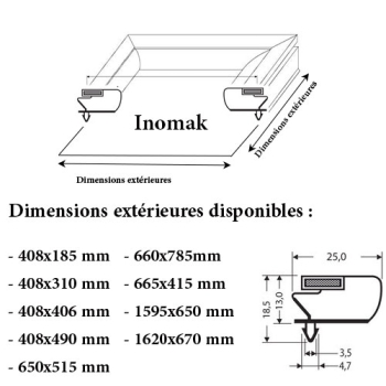 JOINT CADRE MAGNETIQUE ADAPTABLE INOMAK