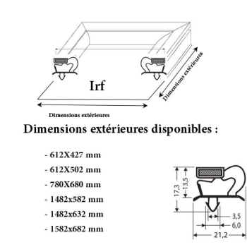 JOINT CADRE MAGNETIQUE ADAPTABLE IRF