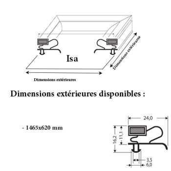 JOINT CADRE MAGNETIQUE ADAPTABLE ISA