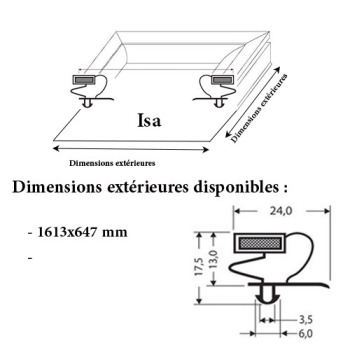 JOINT CADRE MAGNETIQUE ADAPTABLE ISA MODELE 2