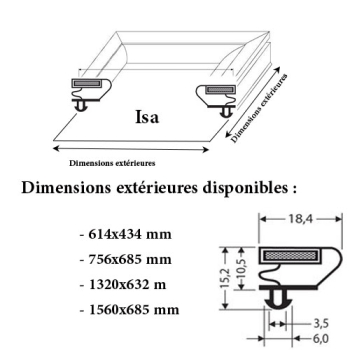 JOINT CADRE MAGNETIQUE ADAPTABLE ISA MODELE 3