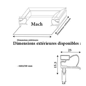 JOINT CADRE MAGNETIQUE ADAPTABLE MACH