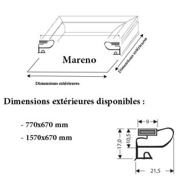 JOINT CADRE MAGNETIQUE ADAPTABLE MARENO MODELE 2