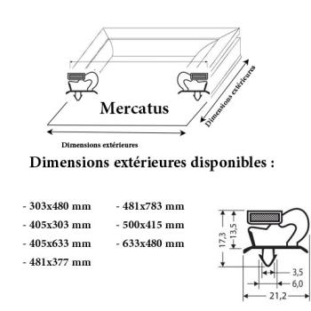 JOINT CADRE MAGNETIQUE ADAPTABLE MERCATUS