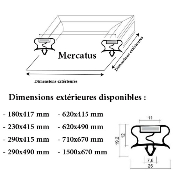 JOINT CADRE MAGNETIQUE ADAPTABLE MERCATUS MODELE 2