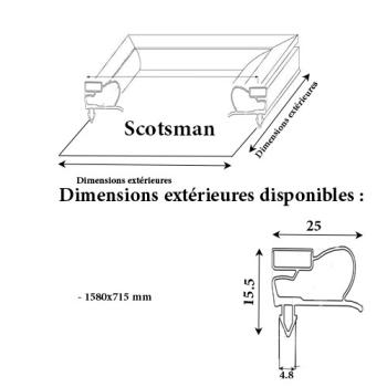 JOINT CADRE MAGNETIQUE ADAPTABLE SCOTSMAN/SIMAG