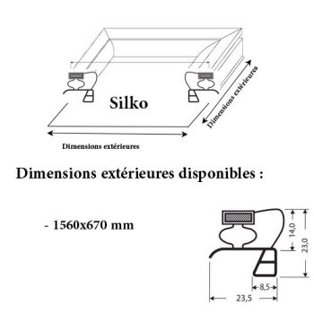 JOINT CADRE MAGNETIQUE ADAPTABLE SILKO