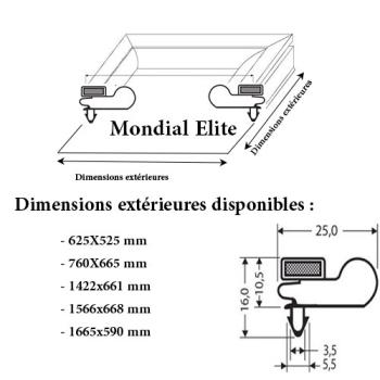 JOINT CADRE MAGNETIQUE ADAPTABLE MONDIAL ELITE MODELE 2