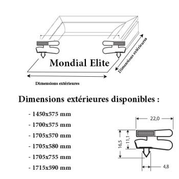 JOINT CADRE MAGNETIQUE ADAPTABLE MONDIAL ELITE MODELE 3