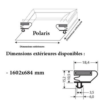 JOINT CADRE MAGNETIQUE ADAPTABLE POLARIS/OLARIS MODELE 2