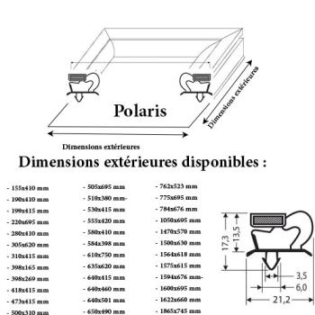 JOINT CADRE MAGNETIQUE ADAPTABLE POLARIS/OLARIS
