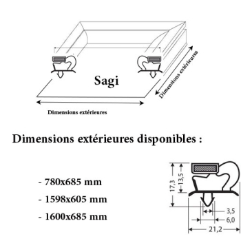 JOINT CADRE MAGNETIQUE ADAPTABLE SAGI