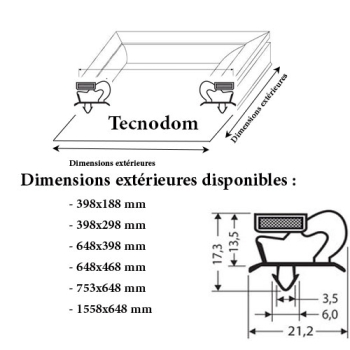 JOINT CADRE MAGNETIQUE ADAPTABLE TECNODOM