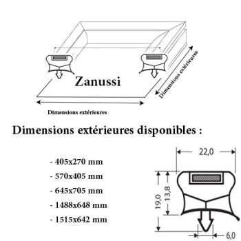 JOINT CADRE MAGNETIQUE ADAPTABLE ZANUSSI MODELE 3