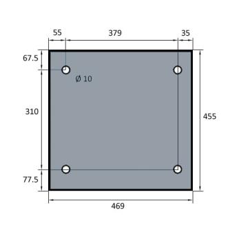 VITRE DE FOUR SPECIAL BATINOX-IBT 469x455 MM