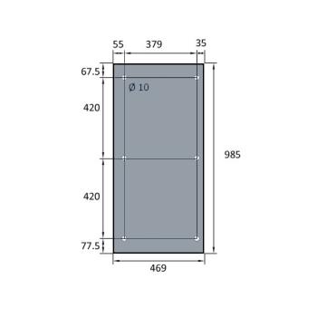 VITRE DE FOUR SPECIAL BATINOX-IBT 469X985 MM