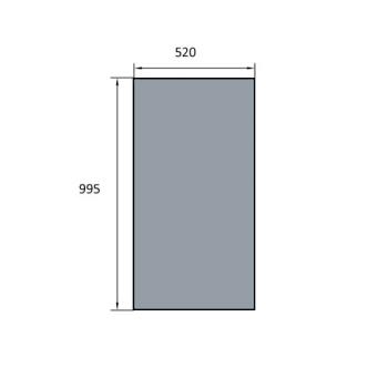 VITRE DE FOUR SPECIAL BATINOX-IBT 520X995 MM