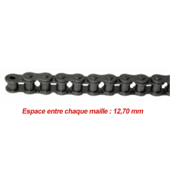 CHAINE DE TRANSMISSION SIMPLE PAS DE 12.70 MM