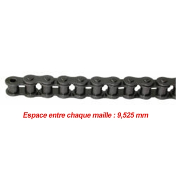 CHAINE DE TRANSMISSION SIMPLE PAS DE 9.525 MM