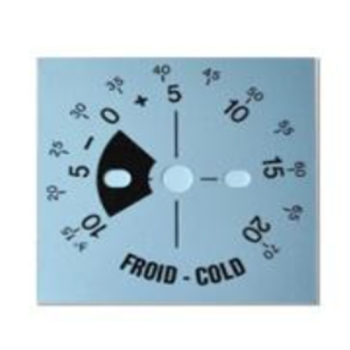 PLAQUE GRADUEE THERMOSTAT FROID PANIMATIC