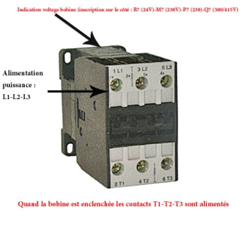 CONTACTEUR TRIPOLAIRE 62 AMPERES - OMRON