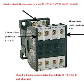 CONTACTEUR-TRIPOLAIRE-14 A AVEC CONTACT AUXILIAIRE - OMRON