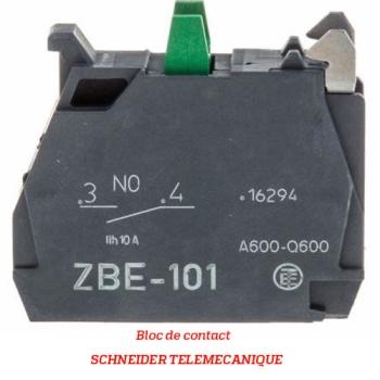 BLOC DE CONTACT - SCHNEIDER TELEMECANIQUE - Type ZBE101-102