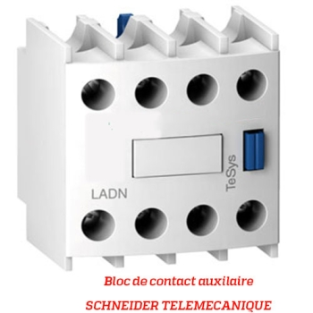 BLOC DE CONTACT AUXILIAIRE - SCHNEIDER TELEMECANIQUE - Type LADN