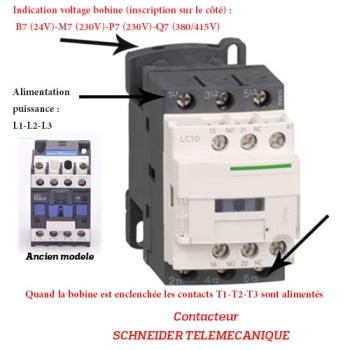 CONTACTEUR  - SCHNEIDER TELEMECANIQUE - Type LC1D - 9 AMPERES